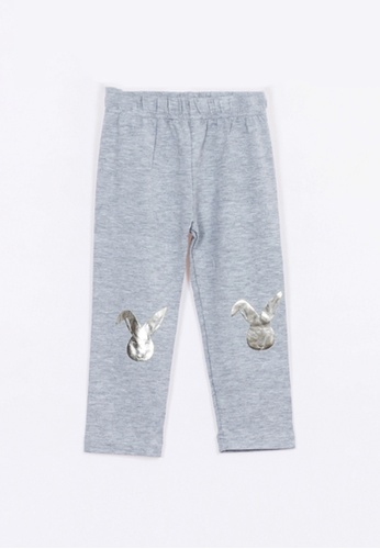 Bove by Spring Maternity grey Foil Print Knitee Patch Legging 3D6CCKA5B63701GS_1
