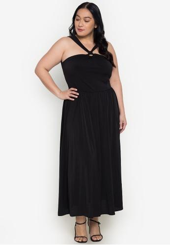 Get Laud Plus black Sahana Maxi Plus Dress 317F7AA7FCA800GS_1