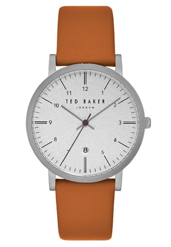 a0094426d883 TED BAKER brown Ted Baker Men s TE15088002 Sammuel Leather Strap Analog  Watch 1E8DDACE010BB1GS 1