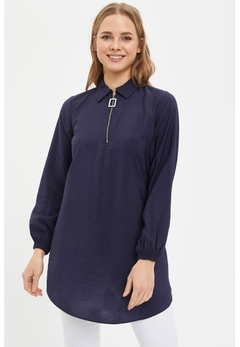 DeFacto navy Woman Long Sleeve Woven Tunic C8024AA6A34D10GS_1