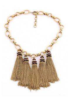 J Crew Tassel Cluster Necklace