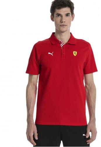 Puma red Ferrari Men's Polo Shirt Adults Male Polos Auto EC9C3AAB95FD93GS_1