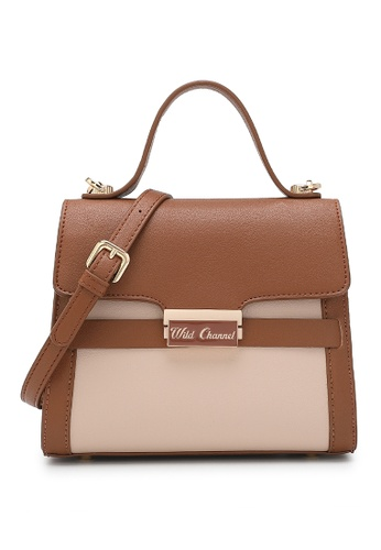 Wild Channel brown Women's Hand Bag / Top Handle Bag / Shoulder Bag B0519ACCEF0C98GS_1