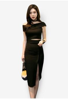 f850866ae4 Sunnydaysweety black Slim Cutting Two-piece Suit 1C5BAAA9A71A66GS 1