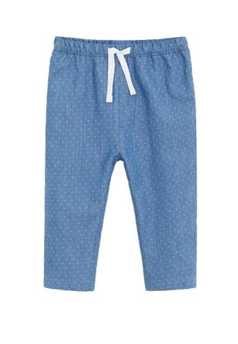 MANGO BABY blue Polka-Dot Straight Trousers 32155KADBE4FC1GS_1