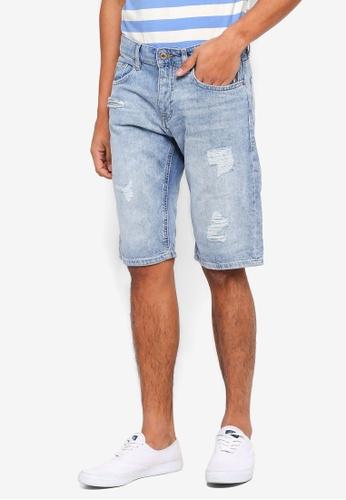 ESPRIT 藍色 Denim Regular Shorts F9324AA8D40E7EGS_1