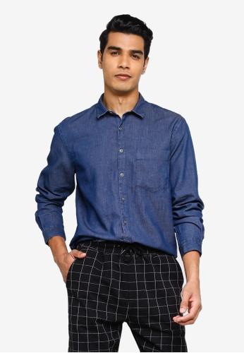 KOTON blue Denim Shirt 609D2AA363A28EGS_1