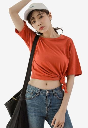 b409865b1797c Buy Tokichoi Basic Tie Hem Top Online on ZALORA Singapore