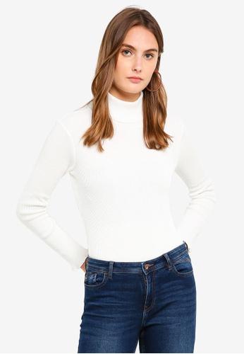 ESPRIT white Long Sleeve Sweater 67071AA5E4A8B0GS_1