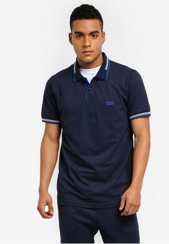 BOSS navy Paul Shirt - Boss Athleisure E5800AA399246BGS_1