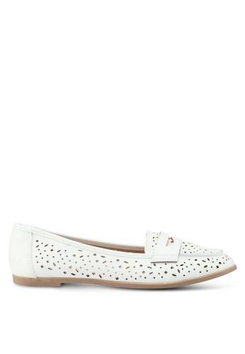 Dorothy Perkins white White Lana Loafers 48DA2SH5871138GS_1
