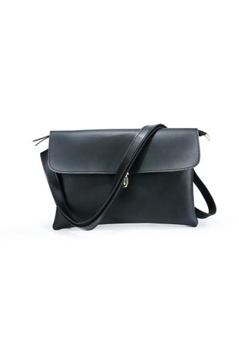 Lara black Men's Hand Bag With A Cross Body Strap - Black 75DFCACD75AF44GS_1