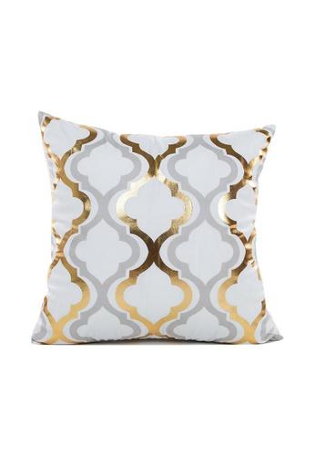 DILAS HOME Trellis Gold Print Cushion Cover CC98CHLC830086GS_1