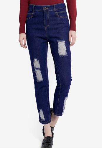 Tokichoi navy Distressed Boyfriend Jeans A68D1AA324F0EFGS_1