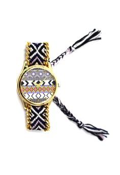 Ethnic Pattern-J Crochet Strap Watch 010