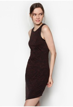 Textured Casual Fitted Dress