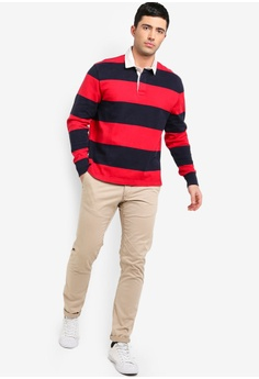 57% OFF J.Crew Gordon Stripe Rugby Shirt S  114.90 NOW S  48.90 Sizes XS XL 9b6b2b003