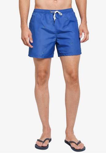 Jack Wills blue Branwell Pheasant Print Shorts 9BD8CUSD2A6023GS_1