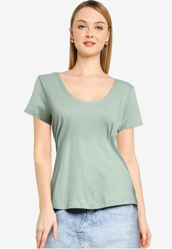 Cotton On green The One Scoop Tee 5E0DEAA081610DGS_1