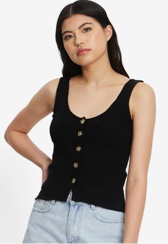 Calli black May Knit Cami 015FDAAE1BE398GS_1