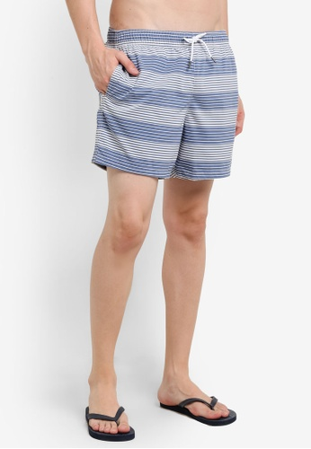 Abercrombie & Fitch blue Guard Pattern Trunks AB423US0RDNYMY_1