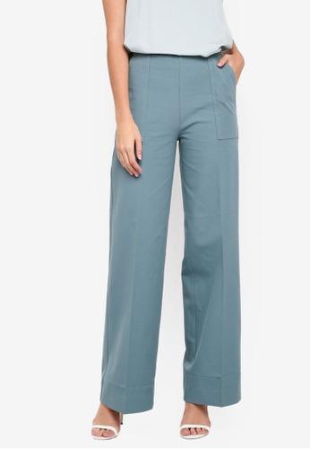 Selected Femme 藍色 Karla High Waist Pants D6B50AA0581F57GS_1