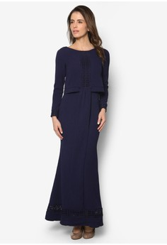Double Layered Cape Dress - Vercato Veron
