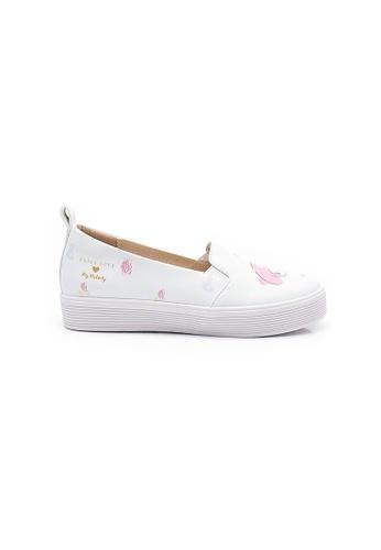 Elisa Litz white My Melody Floral Sneakers (White) C38BBSHAF9A10DGS_1