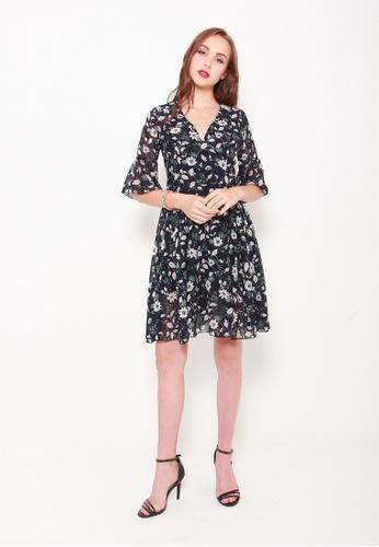 Sophialuv black Wrap This Up Dress in Black F4993AAF419112GS_1