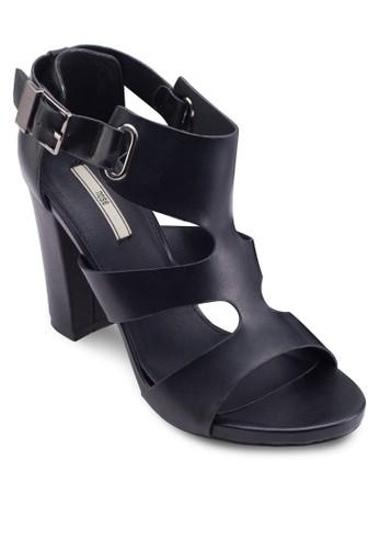 esprit地址多帶繞踝粗跟涼鞋, 女鞋, 鞋