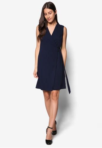 Collection D環腰帶無袖esprit hk連身裙 , 服飾, 洋裝
