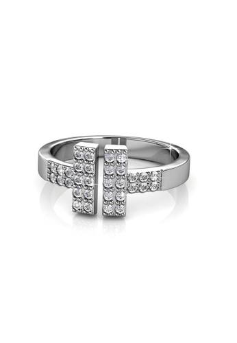 Her Jewellery silver Hermies Ring - Licensed Genuine Crystals from Swarovski® HE581AC0RDG2MY_1