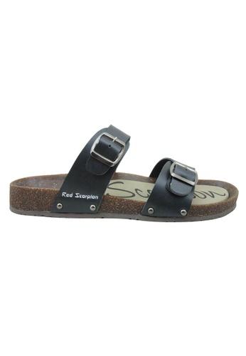 midzone black Outdoor Sandals MI949SH44BJBMY_1