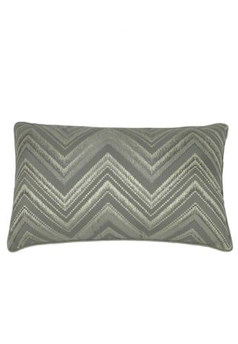 Maison Curio Mia Chevron Long Cushion Grey D1996HL0F26A9FGS_1