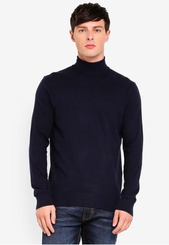 Burton Menswear London 海軍藍色 反褶領上衣 C439BAAE467D2CGS_1
