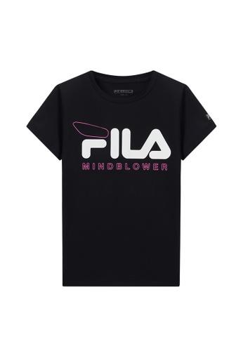 FILA black FILA KIDS FILA Logo MIND BLOWER T-shirt 8-15yrs F1AB5KA110C6F6GS_1