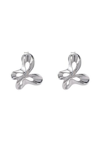 Carlton London white Butterfly Earrings A2AE7ACF144240GS_1