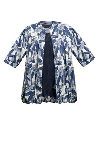 Oota Beachwear blue and multi Emeral Blue F66D6AAB6AADC2GS_1