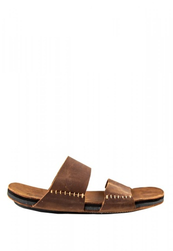 Otto brown Double Strap Sandals DB2E6SHF7265F5GS_1