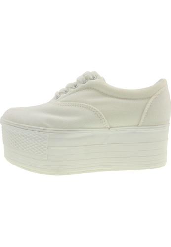 Maxstar 白色 新款韩国鞋C60-5H時尚帆布布混合女白色 US Women Size MA345SH58HGJTW_1