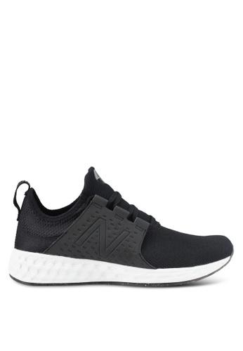 New Balance black and grey CRUZ Fresh Foam Performance Running Shoes NE323SH0SVCRMY_1