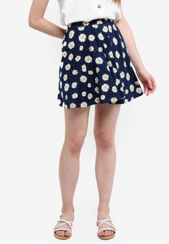 Something Borrowed navy Jersey Skater Skirt 4FBFEAA90D2458GS_1