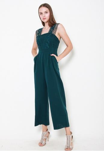 Leline Style green Taylor Crotchet Romper 4B99BAAF27FC11GS_1