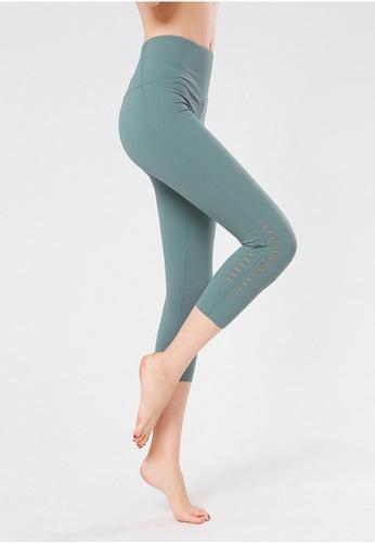 B-Code green ZYG3048-Lady Quick Drying Running Fitness Yoga Sports Leggings -Green D6053AA4C8042BGS_1
