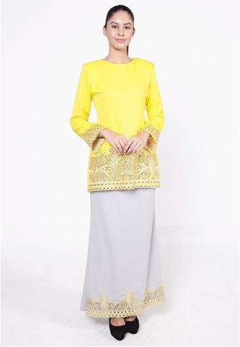 Camellia Kurung Yellow from HESHDITY in Yellow