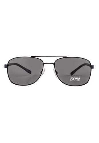 Hugo Boss black HUGO BOSS Square Black Sunglasses 0762S HU898AC47OVWMY_1