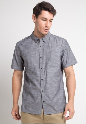hurley black and multi One & Only 2.0 Short Sleeve Shirt 000C7AA2A3C5C7GS_1