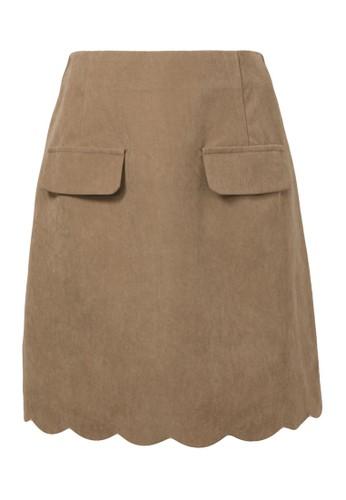 Jual YOCO Scallop Hem Skirt Original   ZALORA Indonesia