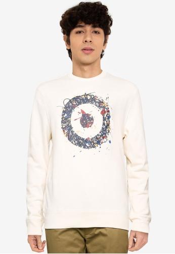 Ben Sherman white Chest Target Sweatshirt 1571DAA6468F45GS_1