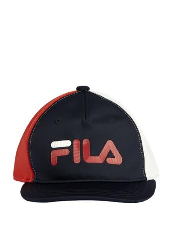 FILA navy FILA KIDS FILA Logo Colour Blocks Cap EC340KCD2B4D9BGS_1
